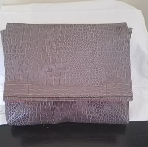 Vince Camuto Snakeskin Clutch. Faux Skin. LARGE!